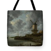 The Windmill At Wijk Bij Duurstede 1668-1670 Tote Bag
