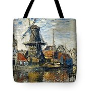The Windmill On The Onbekende Gracht, Amsterdam 1874 Tote Bag