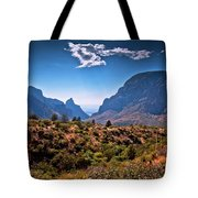 The Window In The Chisos Mountains Tote Bag