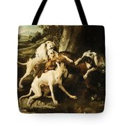 The Wolf Hunt Tote Bag