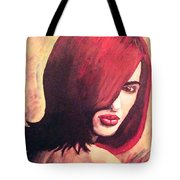 The Woman In Red Tote Bag