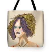 The Woman With Purple Hair Tote Bag