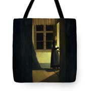 The Woman With The Candlestick Tote Bag