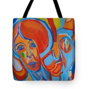 The Woman With The Red Soul Tote Bag