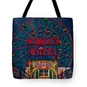 The Wonder Wheel At Luna Park Tote Bag
