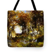 The Woodland Pool Tote Bag by Thomas Moran
