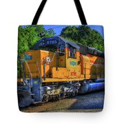 The Workhorse Squaw Creek Southern Rail Road Locomotive Art Tote Bag