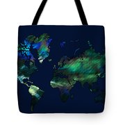 The World In Blues Tote Bag