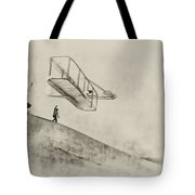 The Wright Brothers At Kittyhawk Tote Bag