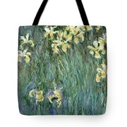 The Yellow Irises Tote Bag by Claude Monet