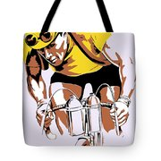 The Yellow Jersey Retro Style Cycling Tote Bag