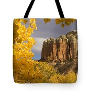 The Yellow Leaves Of Fall Frame A Rock Tote Bag