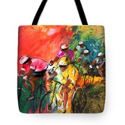 The Yellow River Of The Tour De France Tote Bag