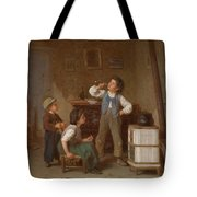 The Young Pipe Smoker Tote Bag