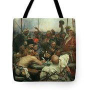 The Zaporozhye Cossacks Writing A Letter To The Turkish Sultan Tote Bag