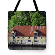 The 1905 Wooden Andreas Odfjell Warehouse On Bergen Harbor Tote Bag