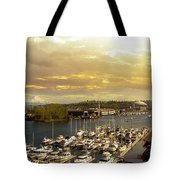 Thea Foss Waterway In Tacoma Washington Tote Bag