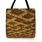 Theater Ceiling Marquee Lights Tote Bag