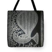The Madhubani Peacock Tote Bag