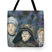 There Goes The Planet Tote Bag