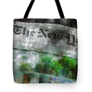 There Is No News Fit To Print Tote Bag