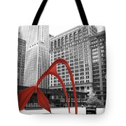 There's A Red Flamingo In Chicago Tote Bag