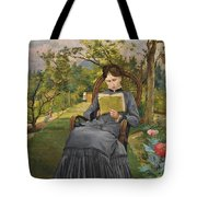 Therese Reading In The Park Of Meric Tote Bag