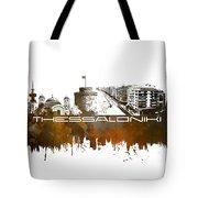 Thessaloniki Skyline City Brown Tote Bag