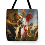 Thetis Receiving The Weapons Of Achilles From Hephaestus Tote Bag