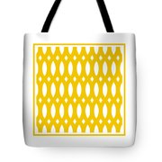 Thick Curved Trellis With Border In Mustard Tote Bag