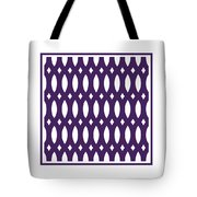 Thick Curved Trellis With Border In Purple Tote Bag