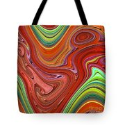 Thick Paint Orange Abstract Tote Bag