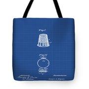 Thimble Patent 1891 In Blue Print Tote Bag