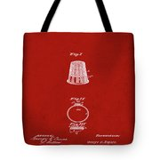 Thimble Patent 1891 In Red Tote Bag