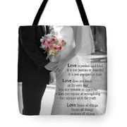 Things To Remember About Love - Black And White #3 Tote Bag