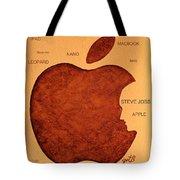 Think Different Steve Jobs 2 Tote Bag by Georgeta  Blanaru
