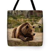 Thinker Bear Tote Bag