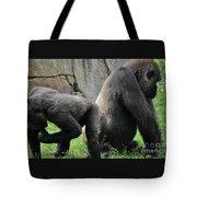 Thinking Gorilla Tote Bag