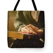 Thinking - Id 16217-152033-4576 Tote Bag