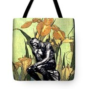 Thinking In The Garden Tote Bag