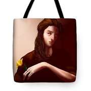 Thinking Of Yellow Tulips Tote Bag
