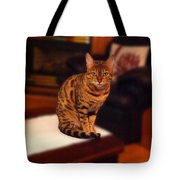 Thinking Of You - Bengal Cat Tote Bag