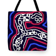 Thinking Red White And Blue Tote Bag by Alec Drake