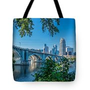 Third Avenue Bridge Over Mississippi River Tote Bag