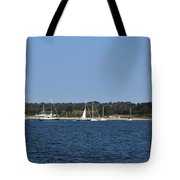 Third Beach Middletown With Boats Tote Bag