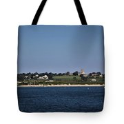 Third Beach Middletown With Church Tote Bag