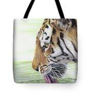 Thirsty Tiger Tote Bag