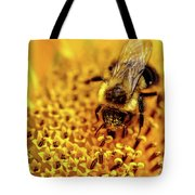 The Bee Is A Little Pig Tote Bag