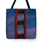 This Is A Close Up Of The Golden Gate Tote Bag