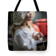 This Little Lady Gives Halloween Candy 5962vg Tote Bag